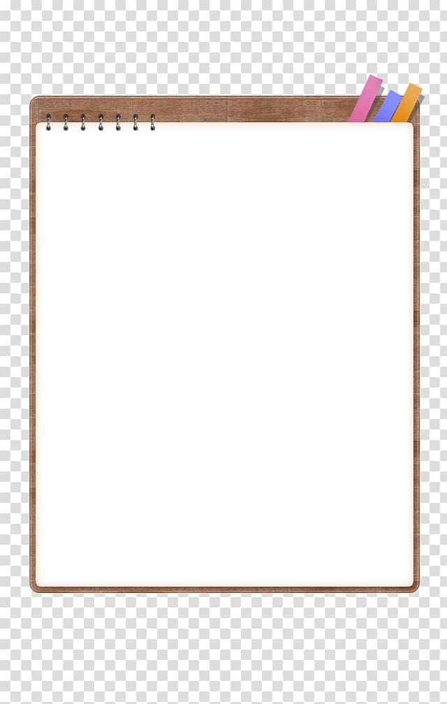 White with brown board. Notepad clipart notebook border design
