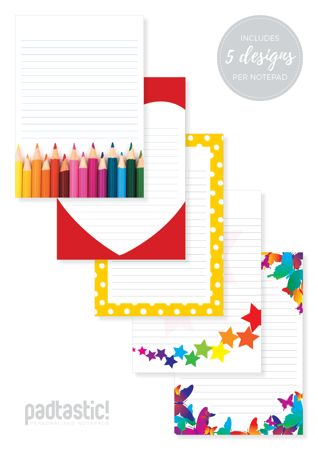 Notepad clipart notepad line. Bold bright mixed design