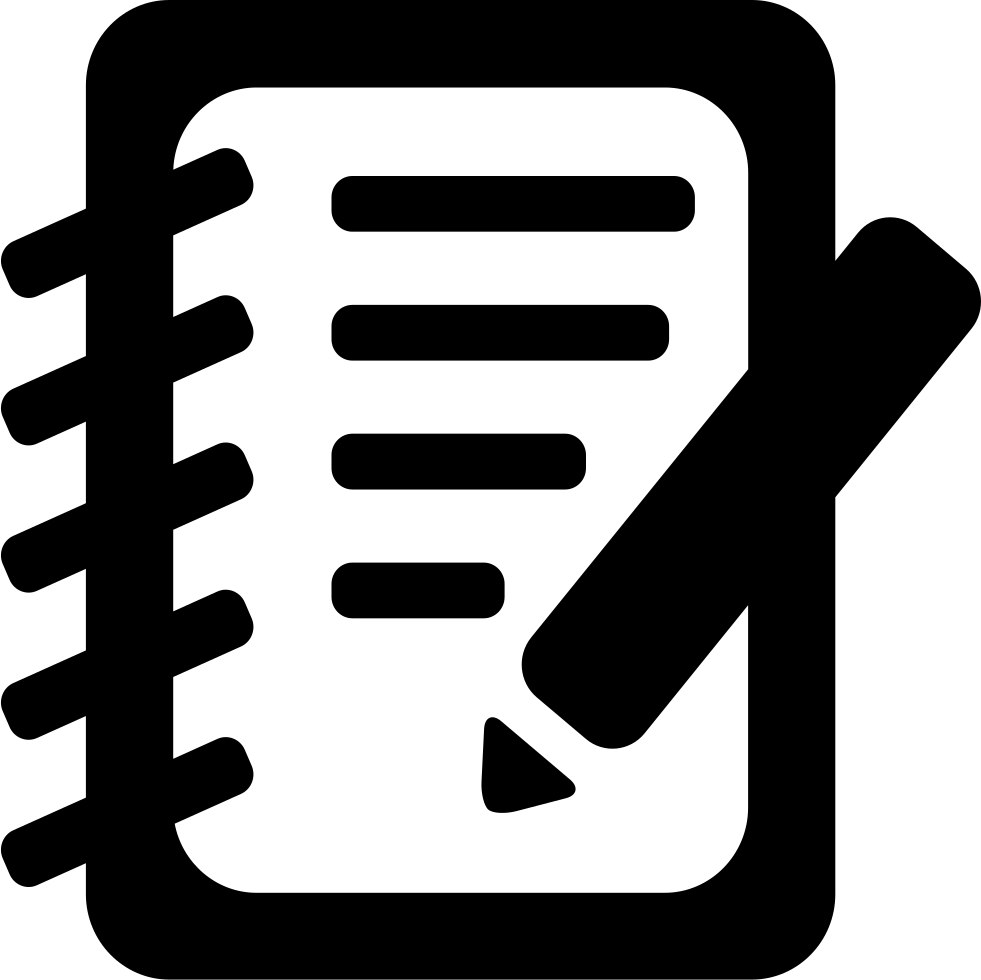 Notepad clipart notepad line. Svg png icon free