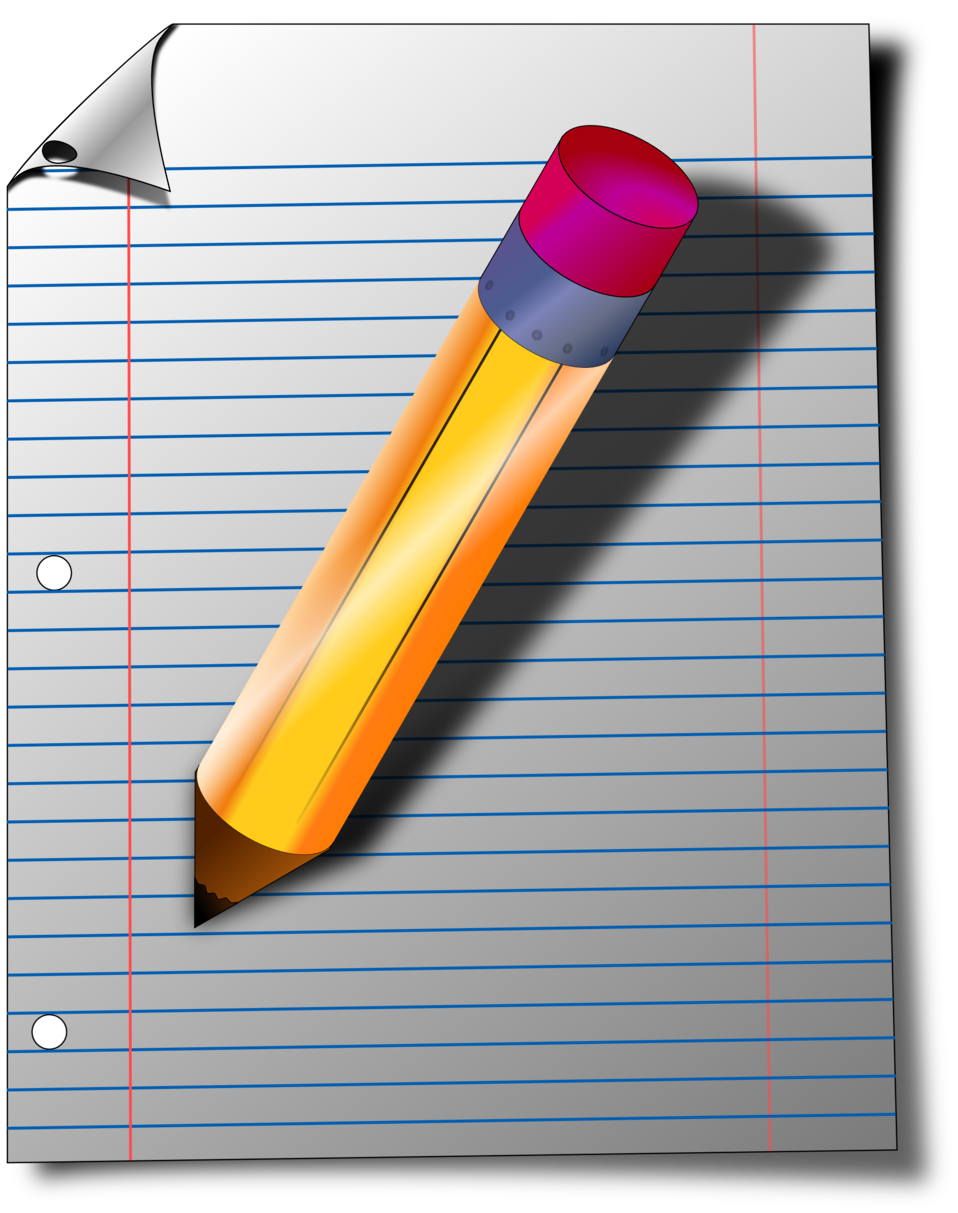 notepad clipart paper works