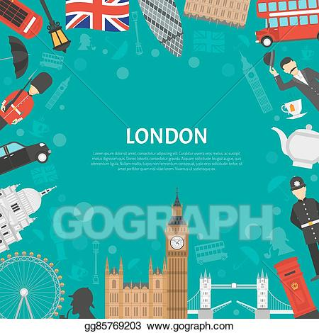 Notepad clipart poster. Vector stock london city