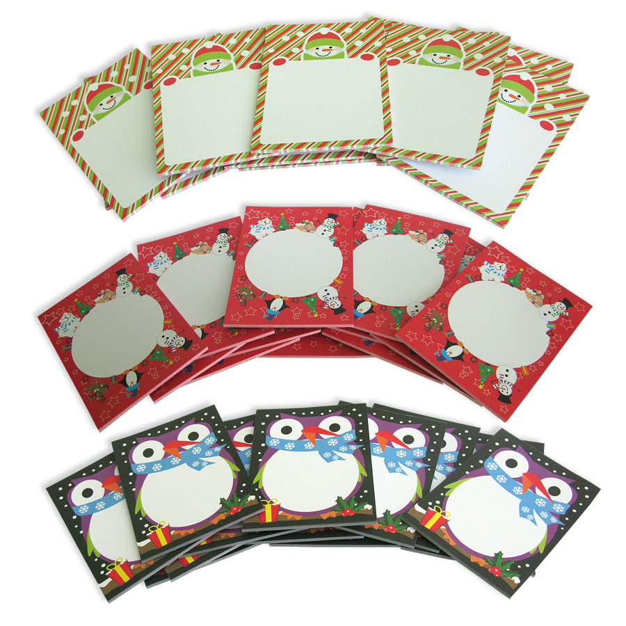 Notepad clipart red. Christmas variety pack