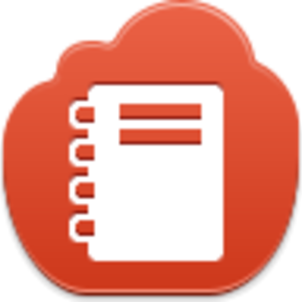 Icon free images at. Notepad clipart red