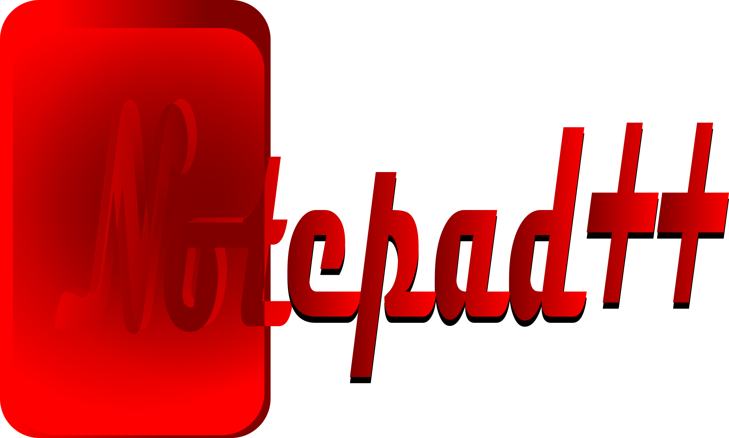 Big image png. Notepad clipart red