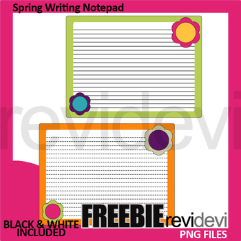 Notepad clipart spring. Free writing template