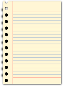 Notepad clipart writing pad. Clip art at clker