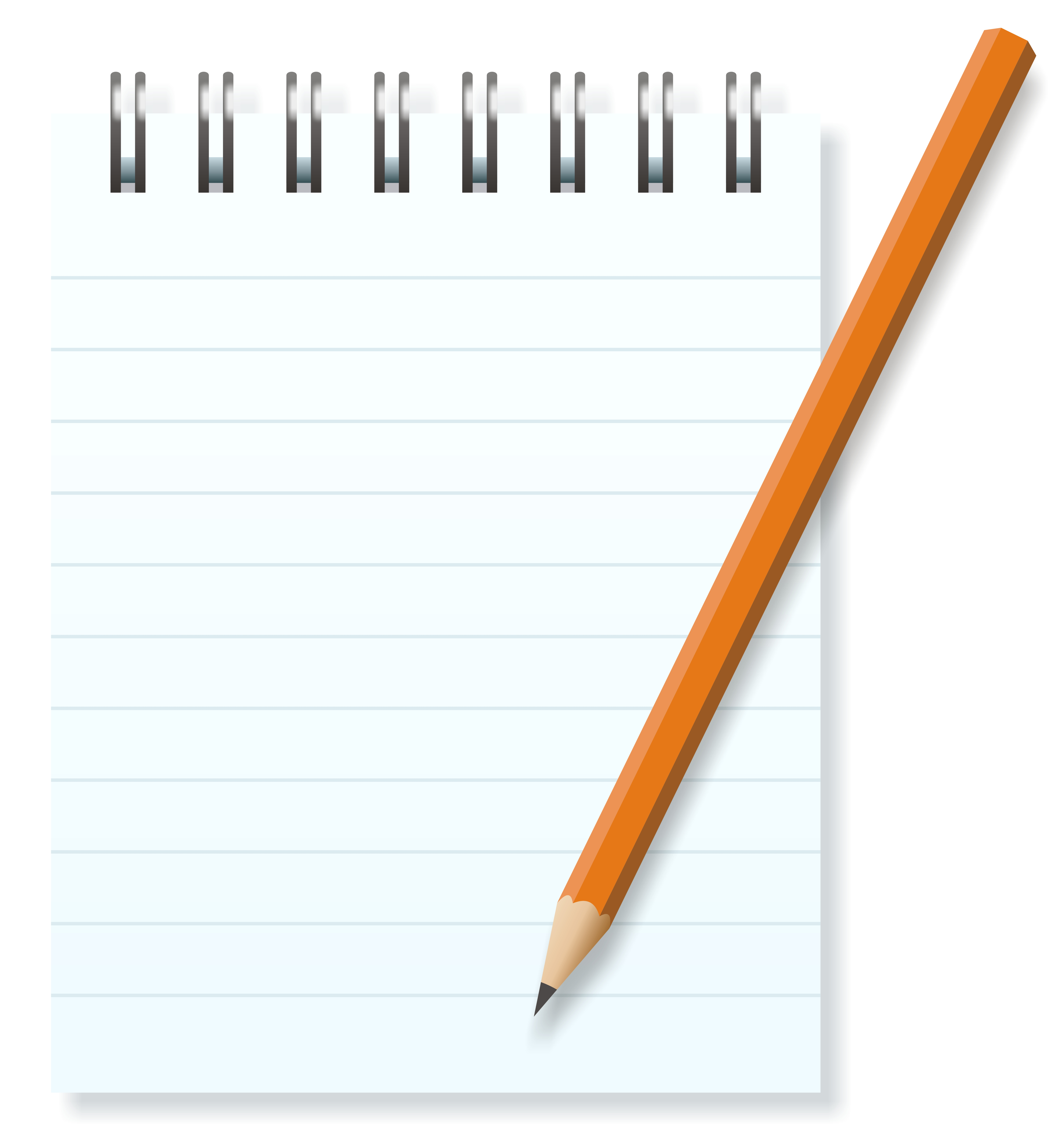 Notepad clipart writing pad. Free small cliparts download