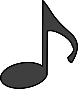 Music black and white. Notes clipart