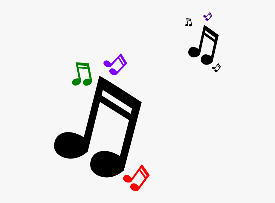 Notes clipart. Colorful music note clip
