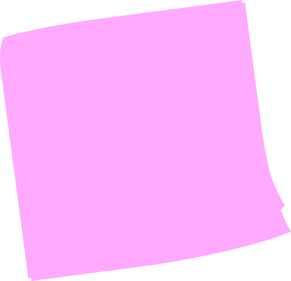 Notes clipart purple. Pink post it clip