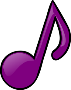 Eighth note clip art. Notes clipart purple