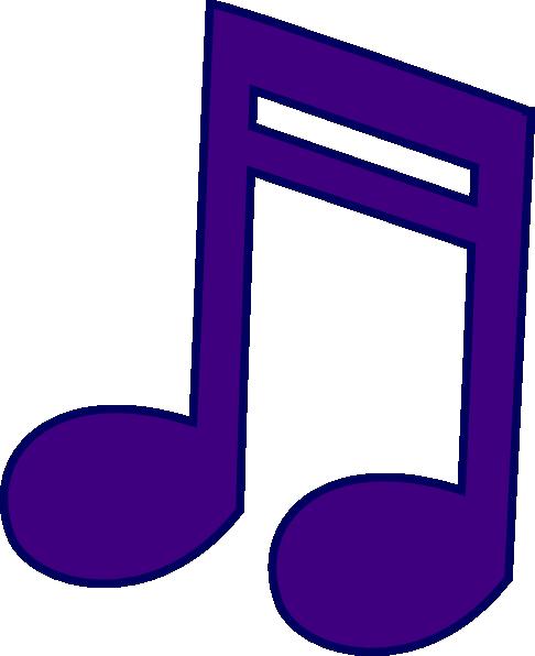 Music note clip art. Notes clipart purple