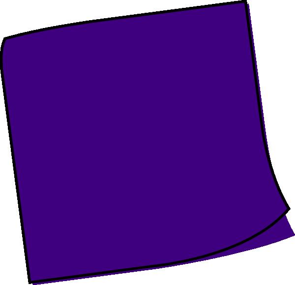 Dark blue sticky clip. Notes clipart purple