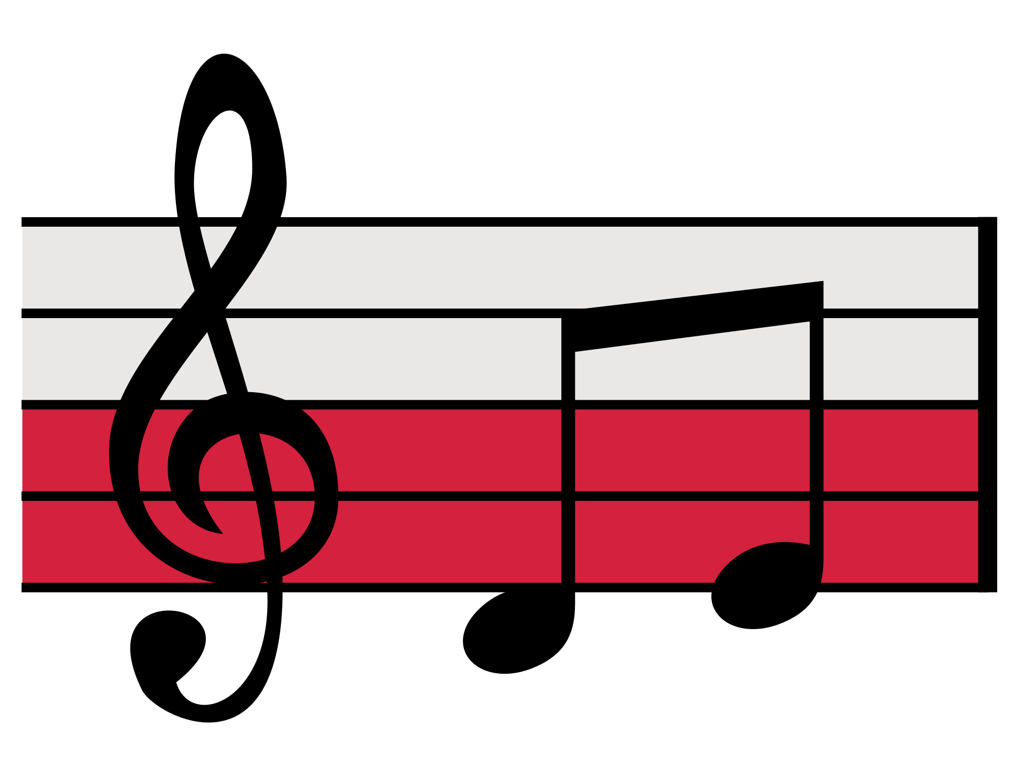 Red musical free download. Notes clipart simple