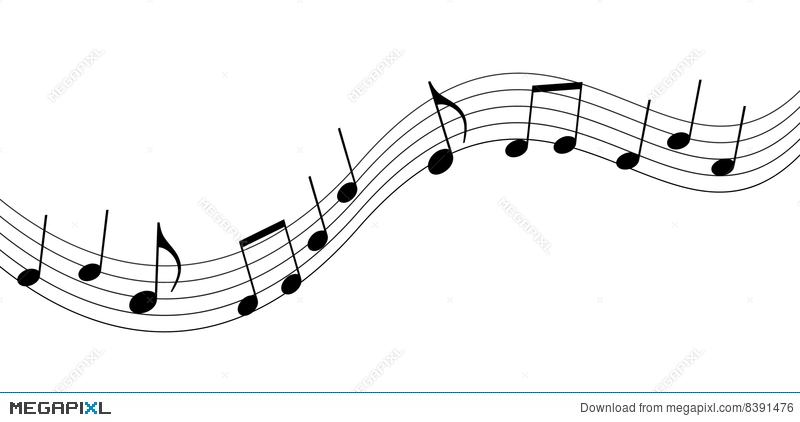 Music illustration megapixl . Notes clipart simple