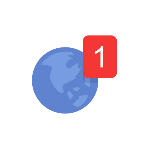 Notification icon png. Globe facebook fb svg