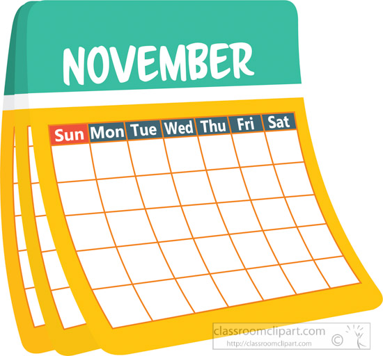 Search results for november. Calendar clipart may