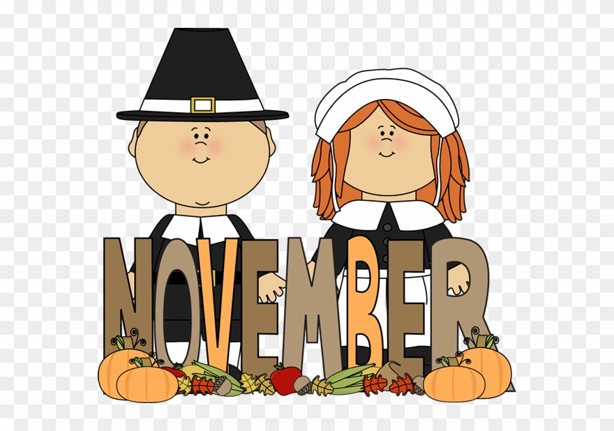 Free month of image. Pilgrims clipart november