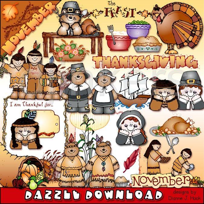 Pilgrims clipart november. Clip art thanksgiving indians