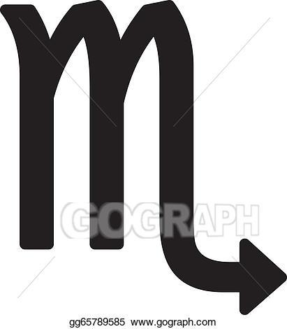 Vector art zodiac sign. November clipart symbol