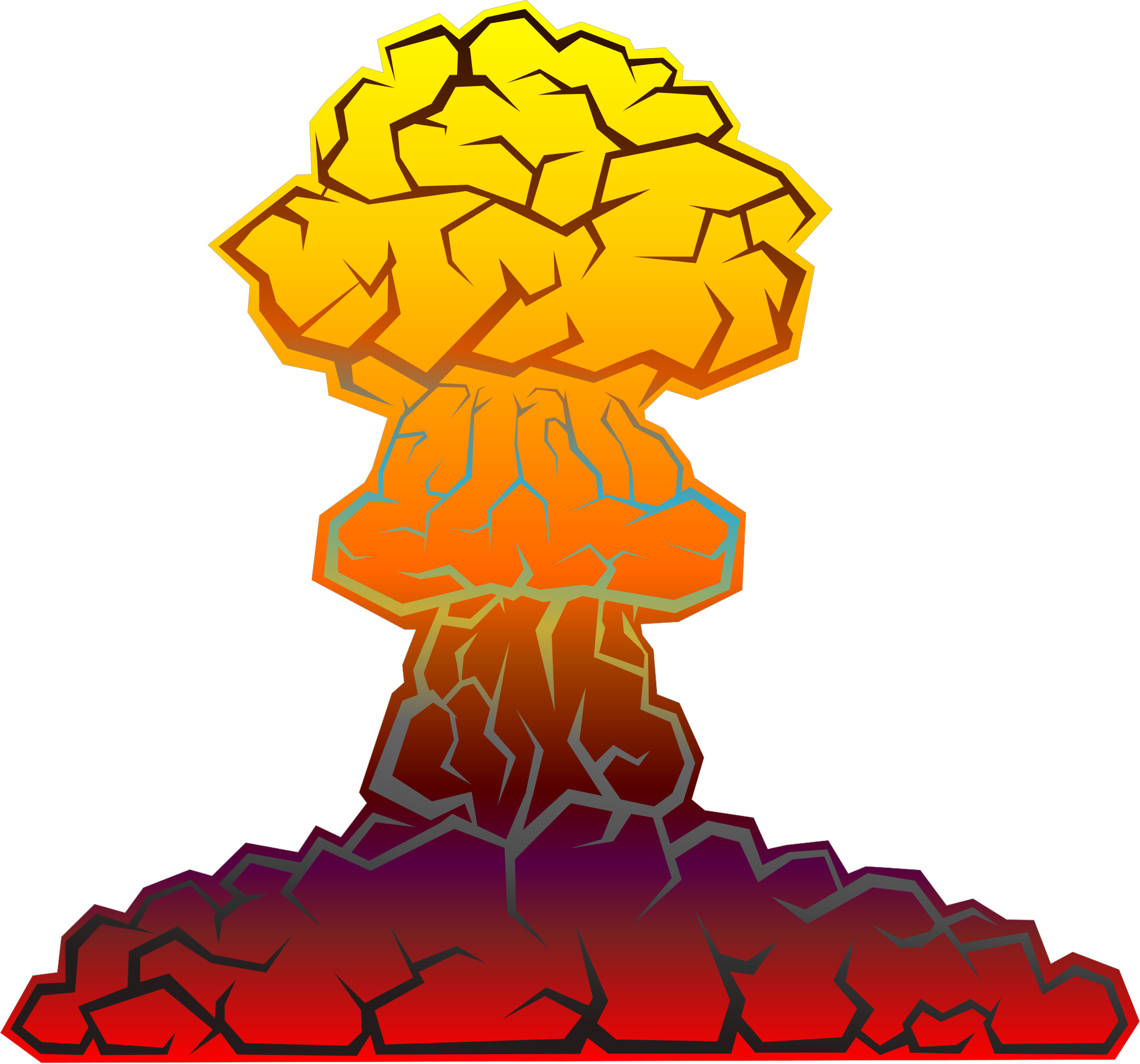Orange clipart explosion. File nuclear svg wikimedia