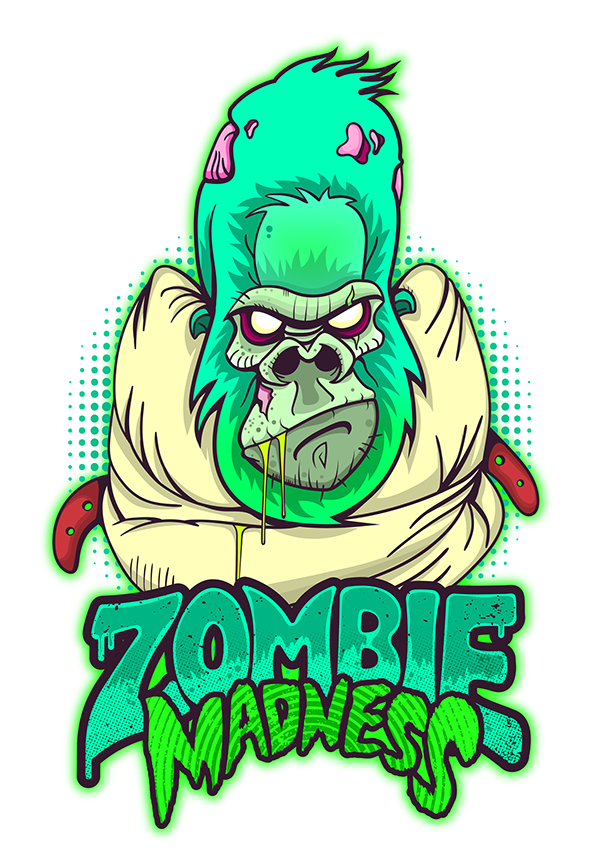 Madness on behance art. Zombie clipart simple