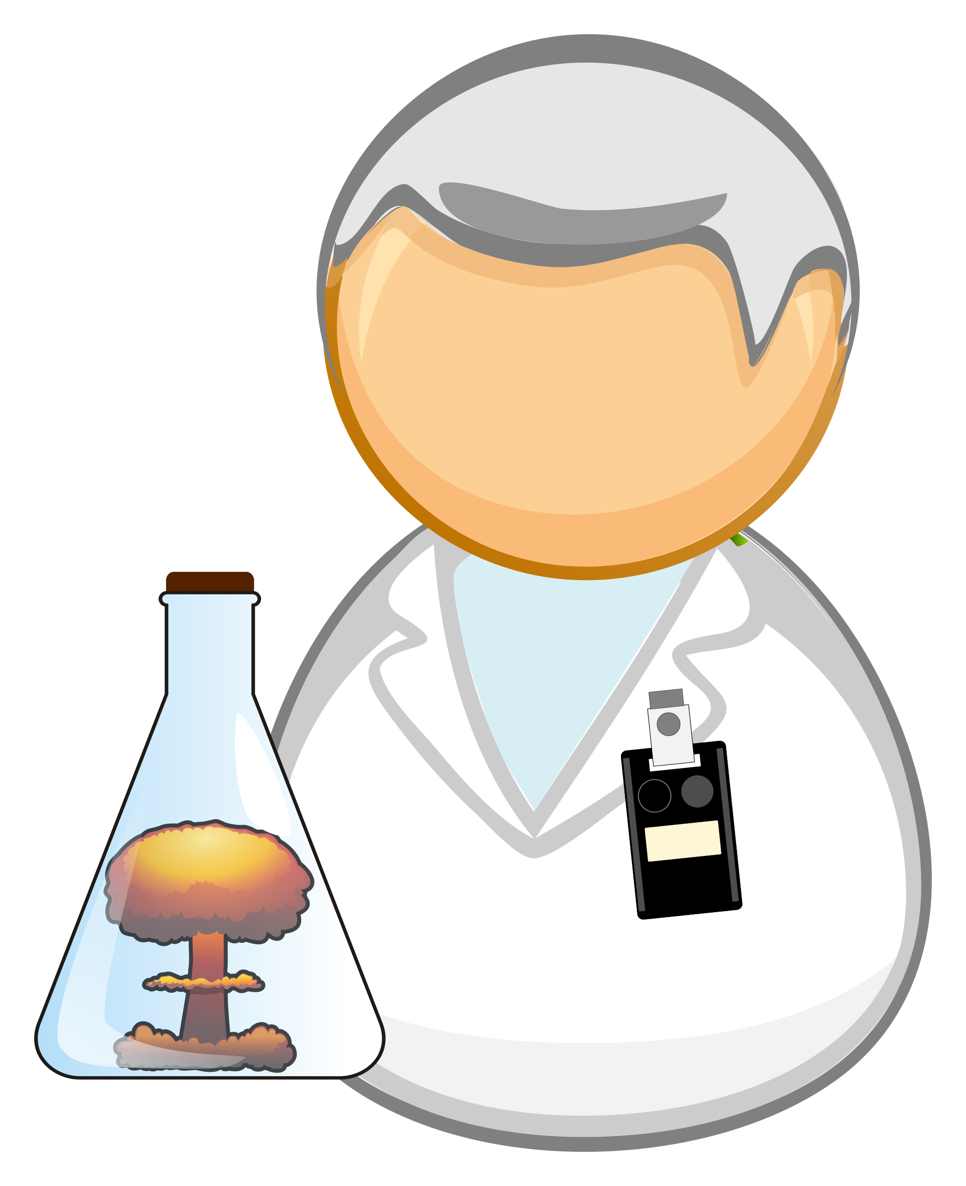 Working clipart researcher. Nuclear scientist big image