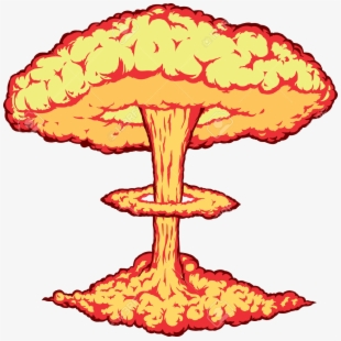 Explosion bomb airplane . Nuke clipart nuclear test