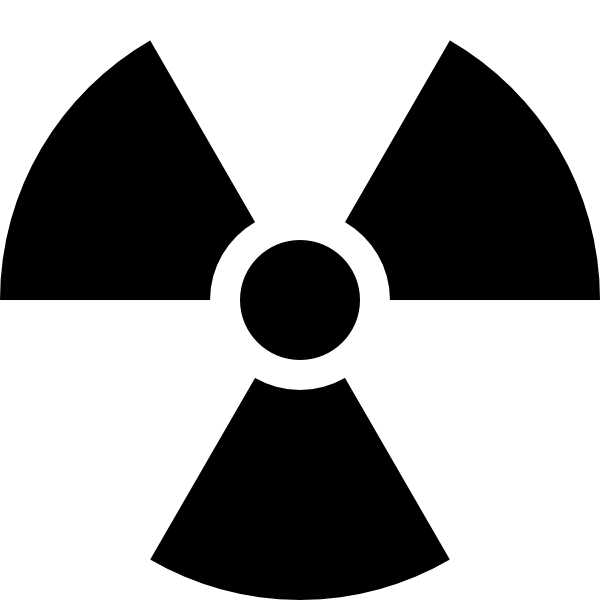 Radioactivity sign clip art. Xray clipart svg