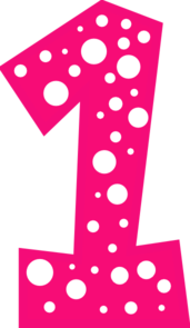 Number 1 clipart. Pink