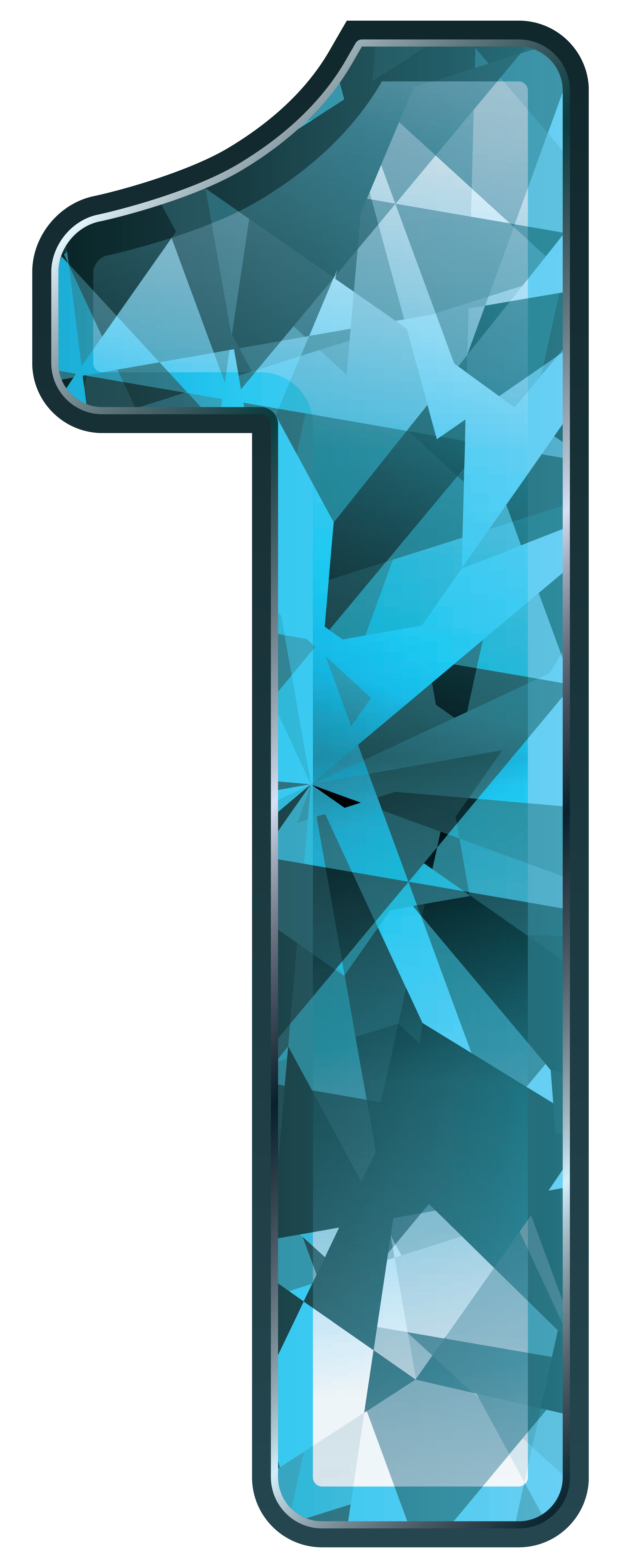 Number 1 clipart 1blue. Blue crystal one png