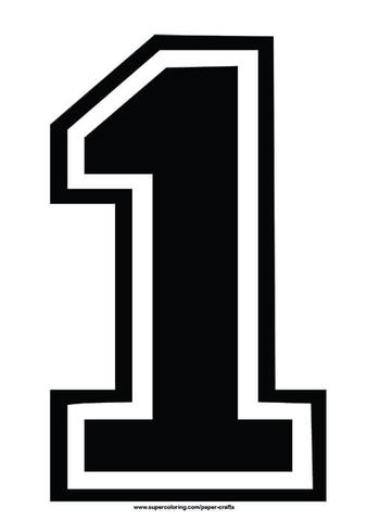 Number 1 clipart 2clipart. Black football shirt template