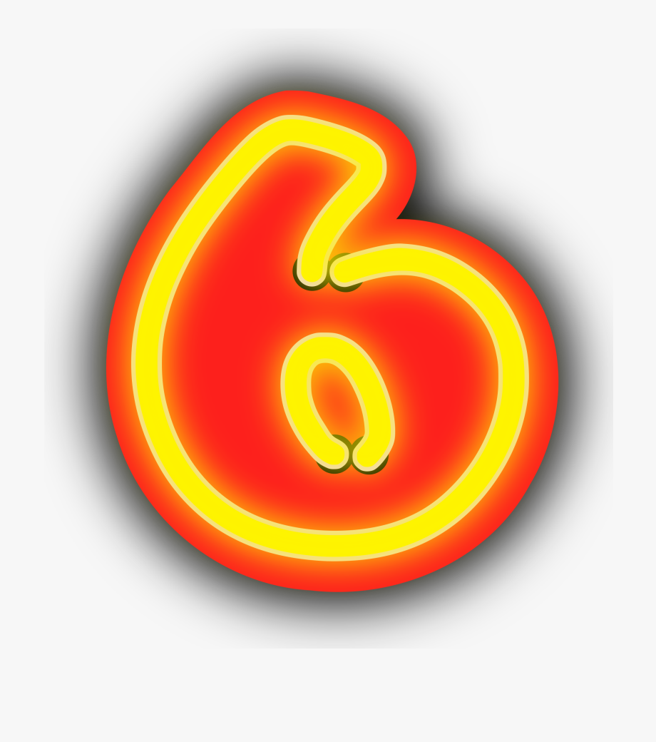 Neon numerals image png. Number 1 clipart big