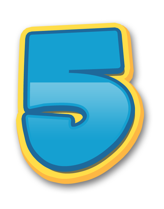 Numeros patrulha canina paw. Number 1 clipart birthday number 5