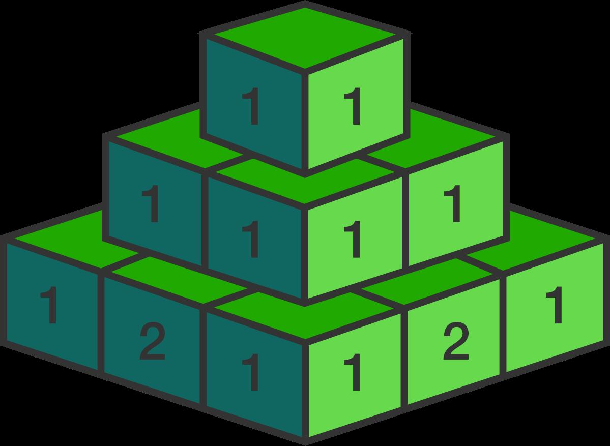 Discrete mathematics problem on. Number 1 clipart block