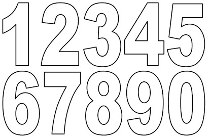 Free letters and numbers. Number 1 clipart bubble letter
