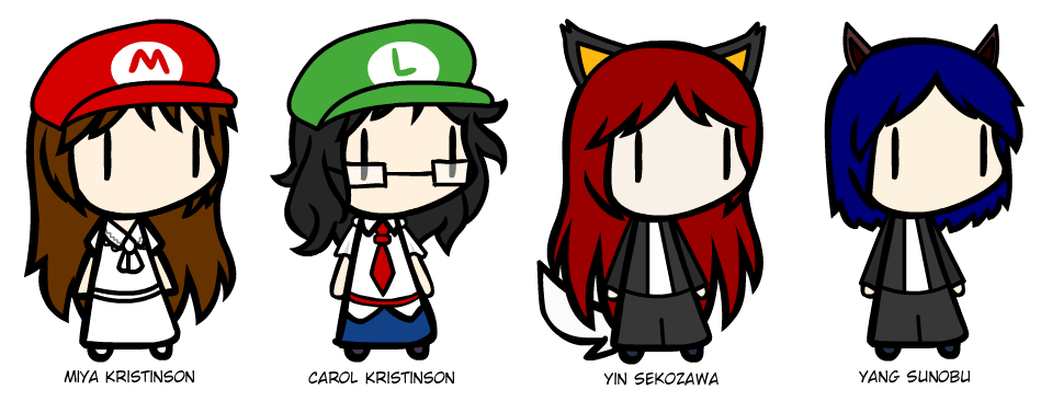 Number 1 clipart character. Walfas custom characters by