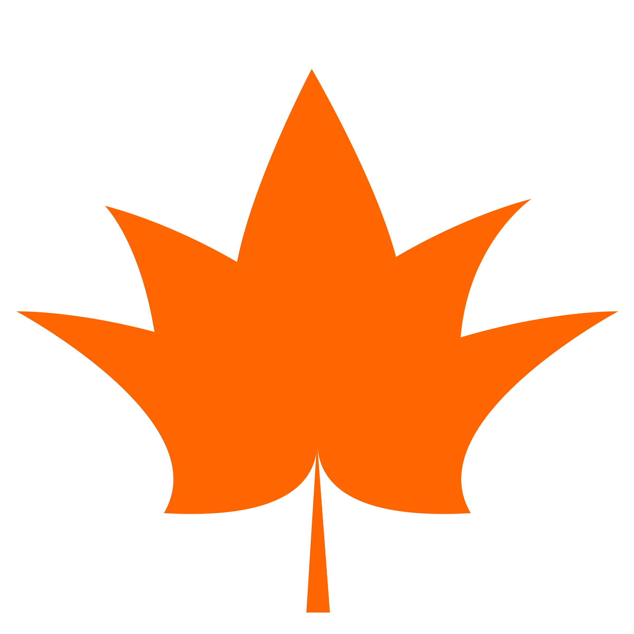 Maple leaf one flat. Number 1 clipart color