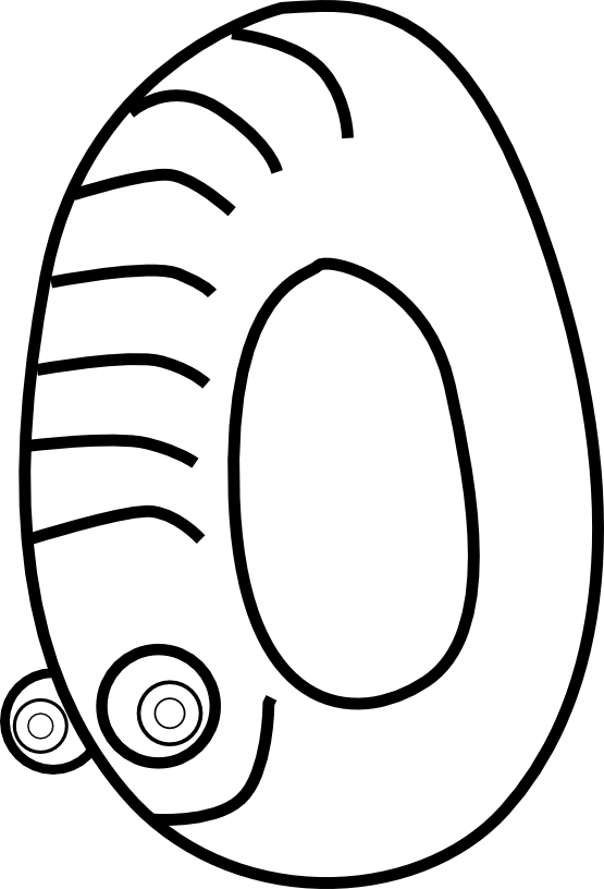 Number 1 clipart coloring page. Clipartist net kablam animals