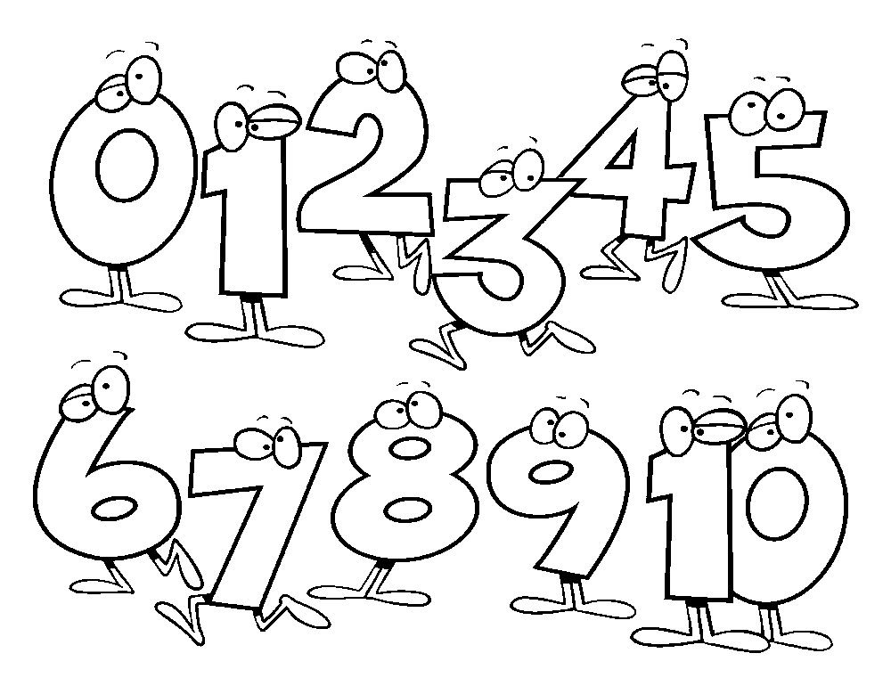 Number 1 clipart coloring page. Math pages kids stuff