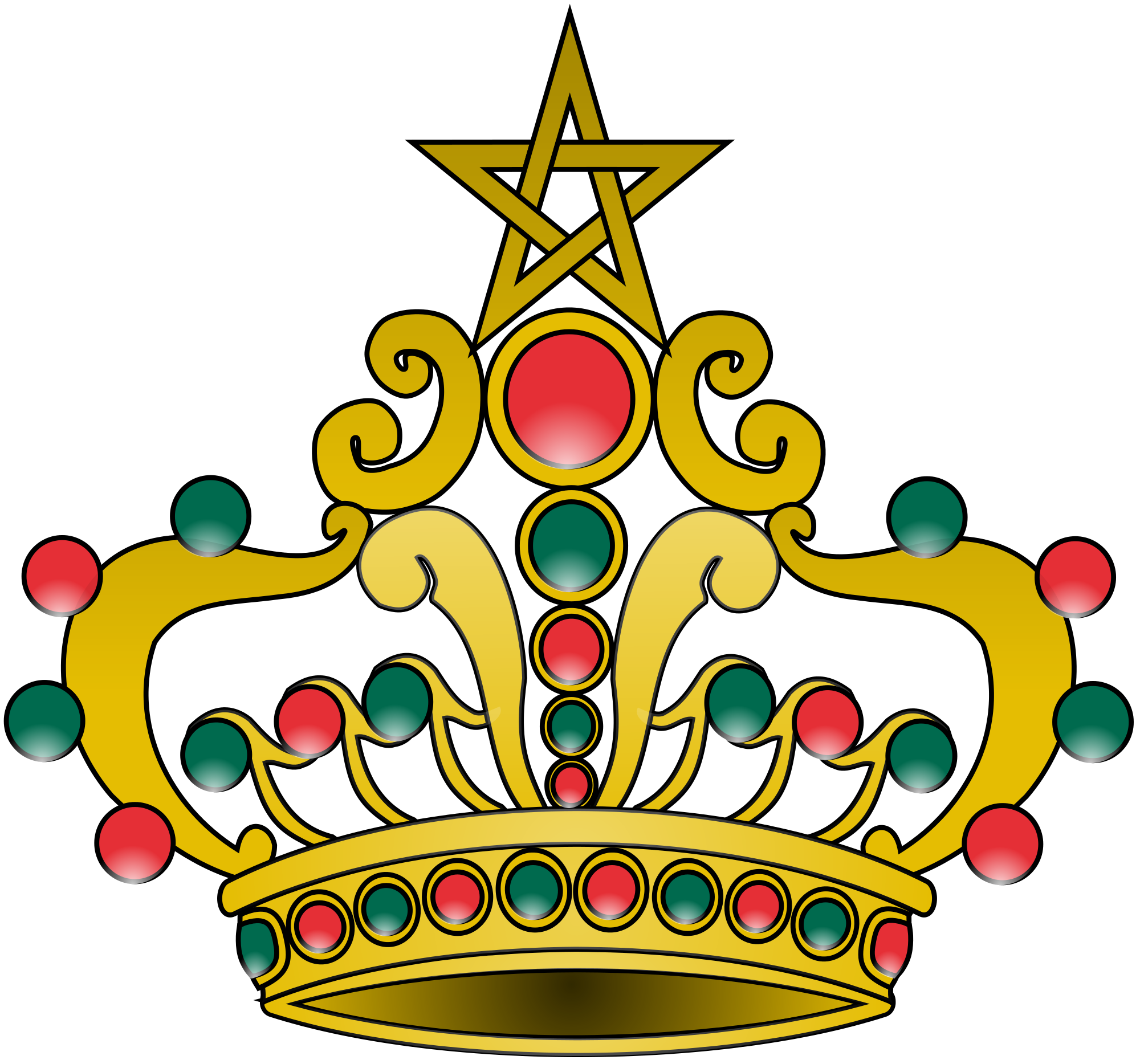 File of morocco svg. Number 1 clipart crown
