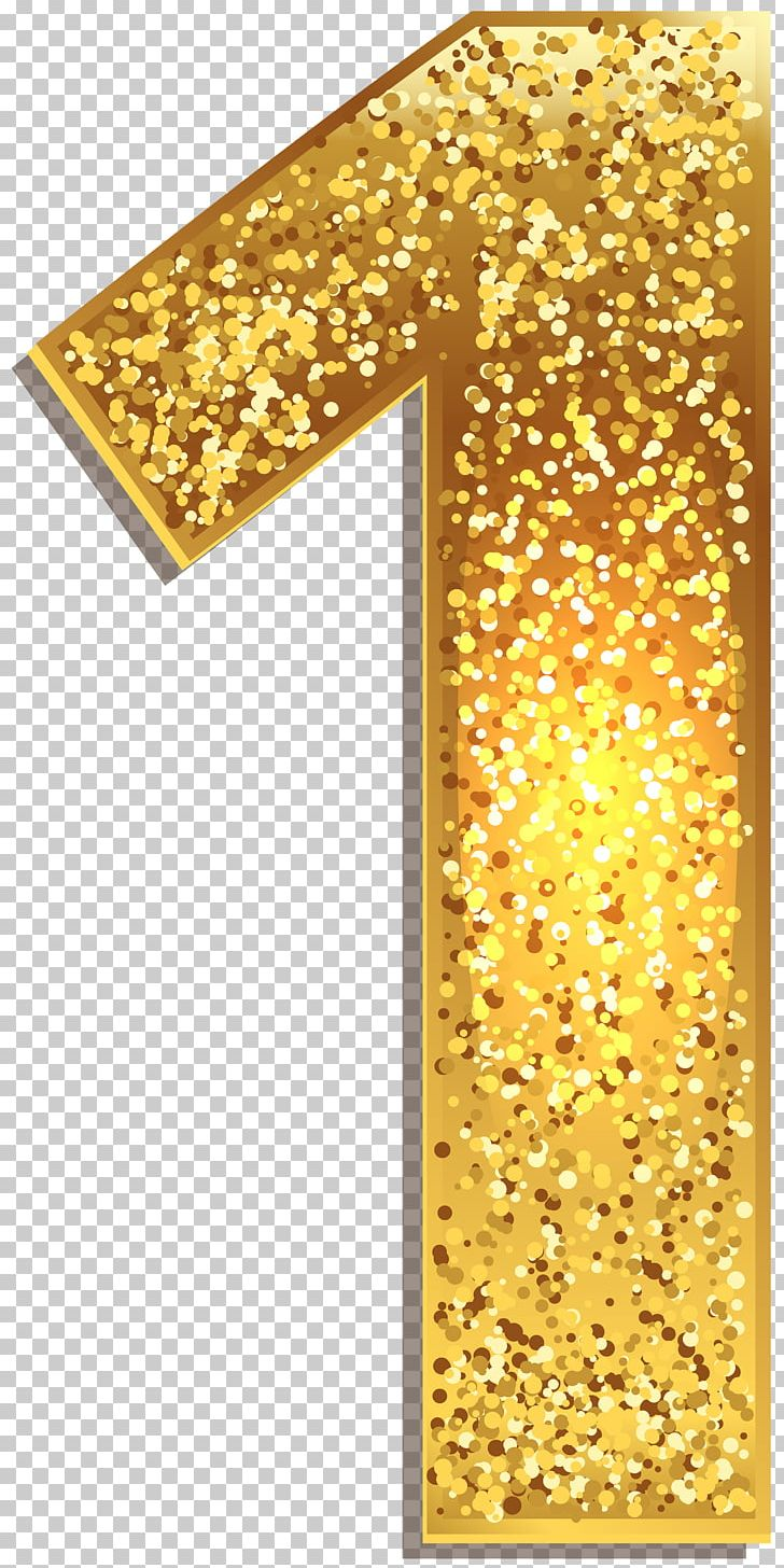 Number 1 clipart decorative. One gold shining png
