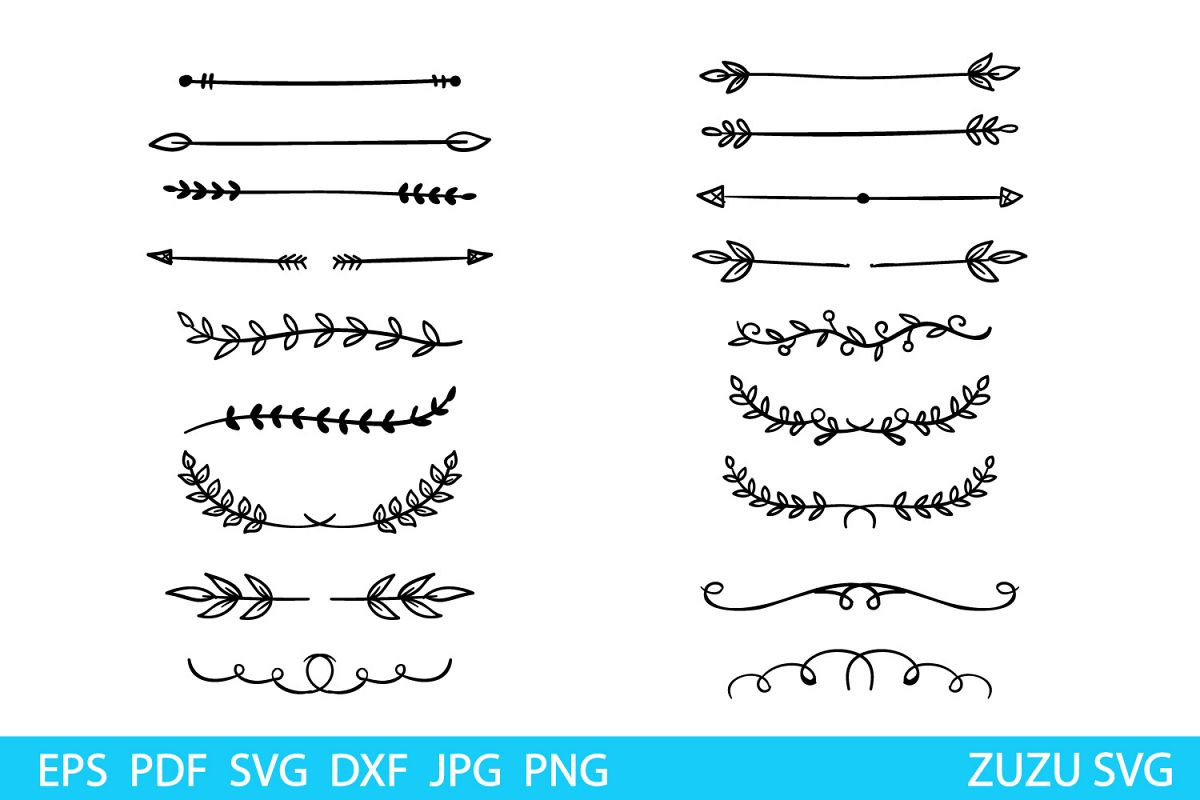 Text Dividers svg - Dividers clip art - Text decoration