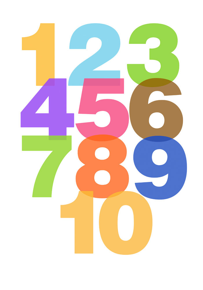 Numbers to free download. Number 1 clipart fun