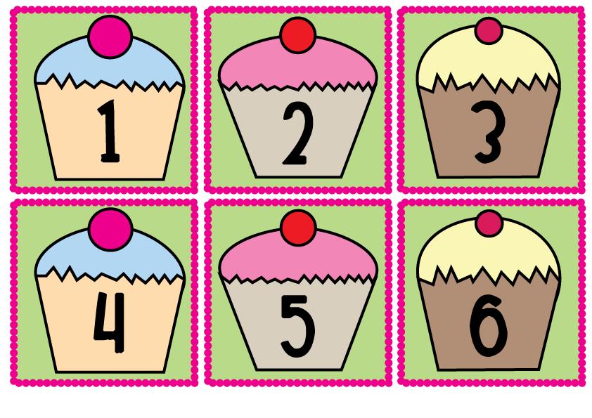 Number 1 clipart fun. Cupcake card freebie classroom
