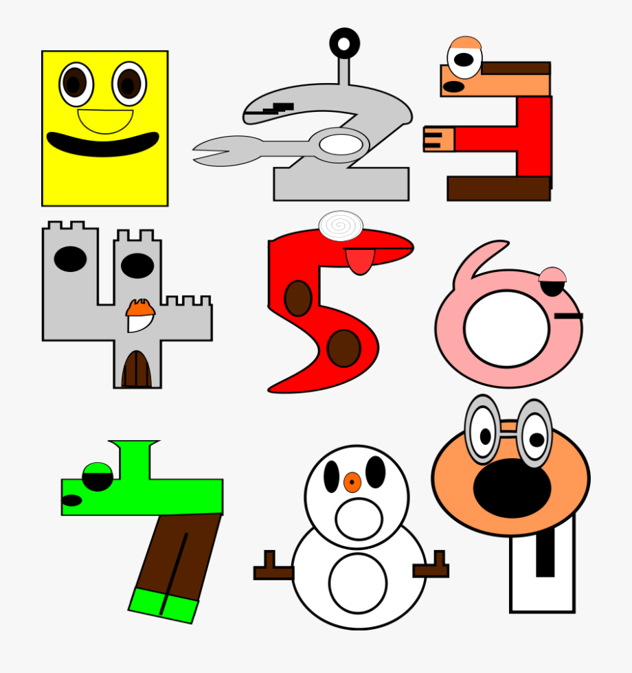 With numbers free . Number 1 clipart fun