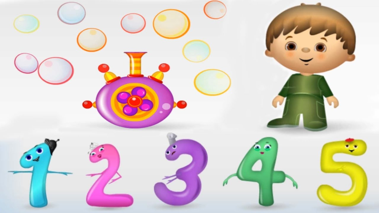 Number 1 clipart fun. Numbers for kids counting