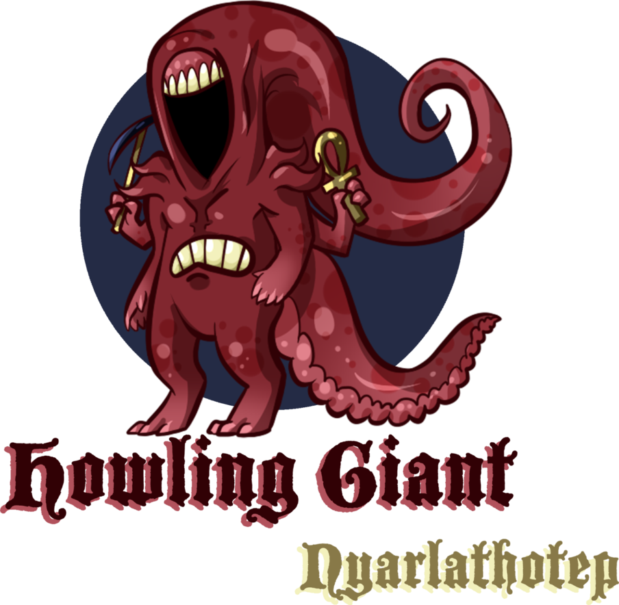 Nyarlathotep howling by roomsinthewalls. Number 1 clipart giant