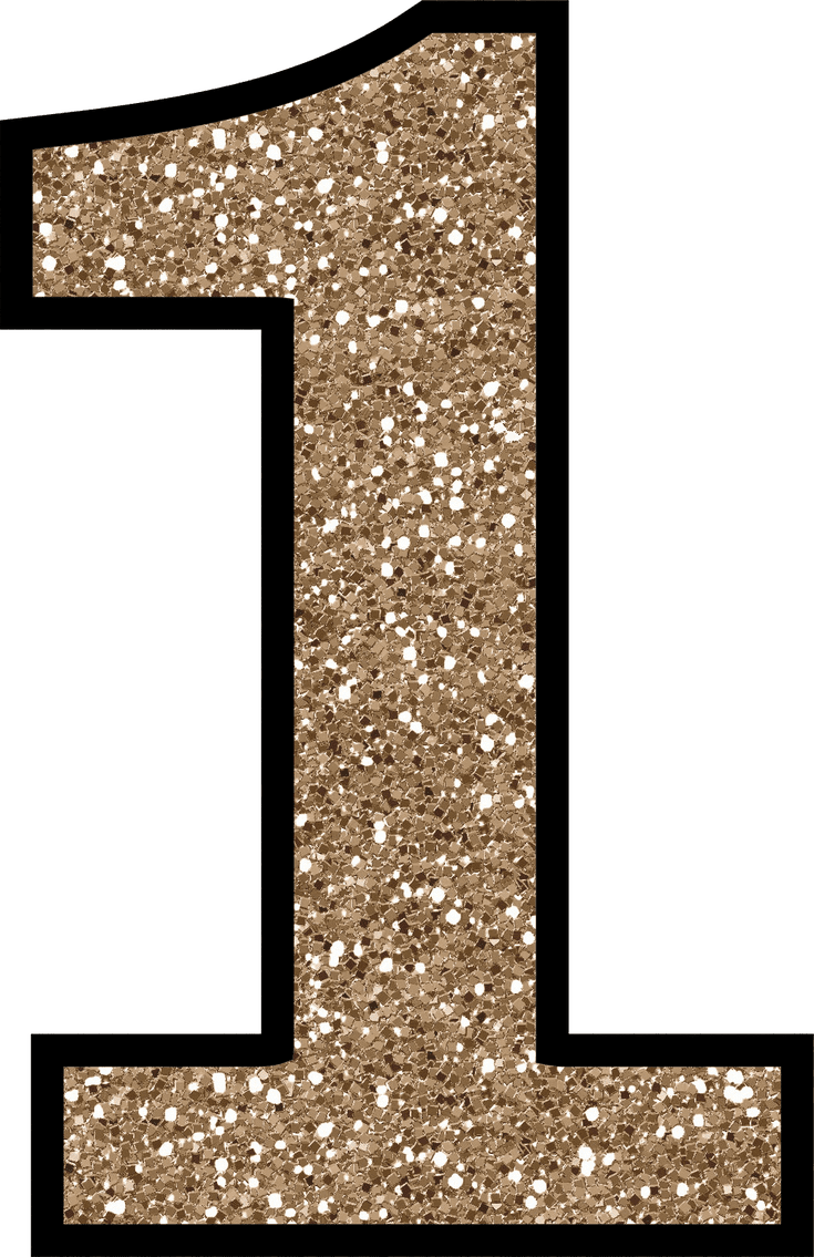 number 3 clipart sparkly