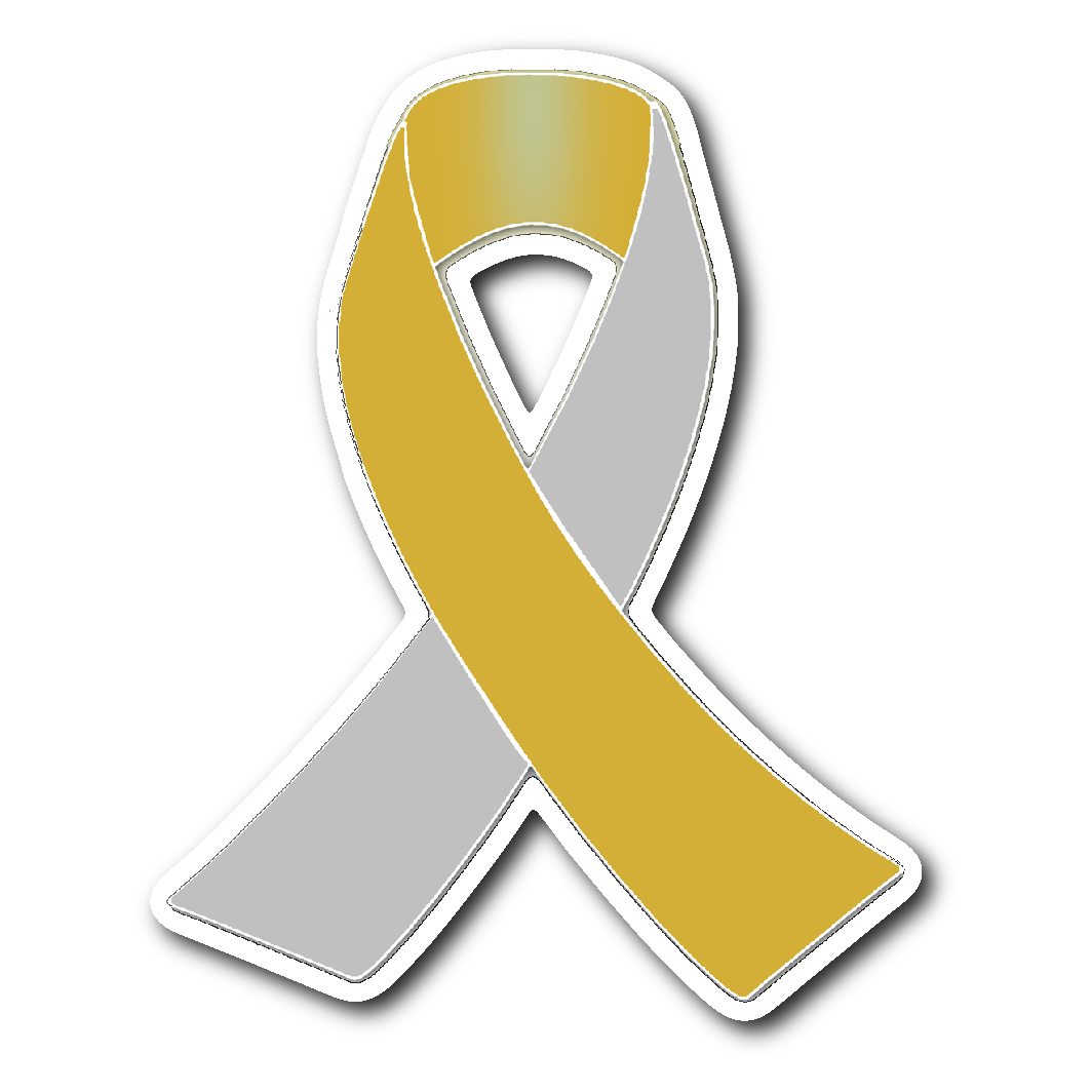 Silver and awareness ribbon. Number 1 clipart gold